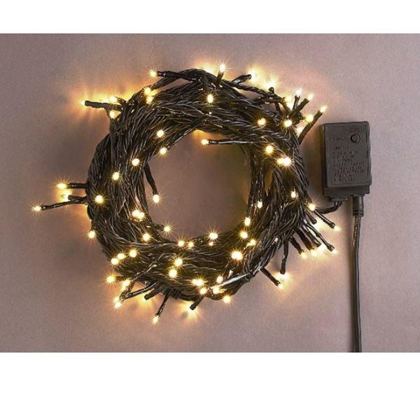 コロナ産業 LEDストレートコード200球(ブラックコード)  LRK200D 電球色 『イルミネーションライト』 電球色