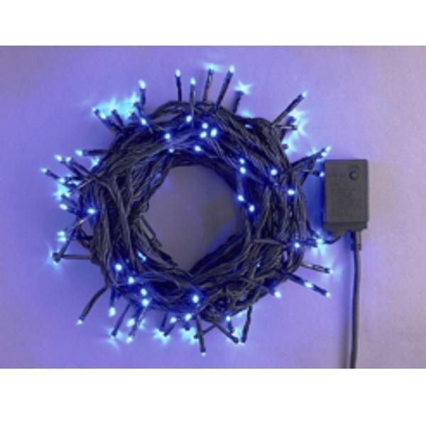 コロナ産業 LEDストレートコード200球(ブラックコード)  LRK200B 青 『イルミネーションライト』 青
