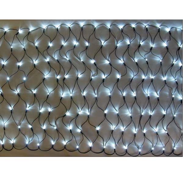 コロナ産業 LED160球グリッターネットライト(ブラックコード)(2回線式1回路)/電源部別売り 常点灯仕様 白 #GLT160W 『イルミネーションライト』 白