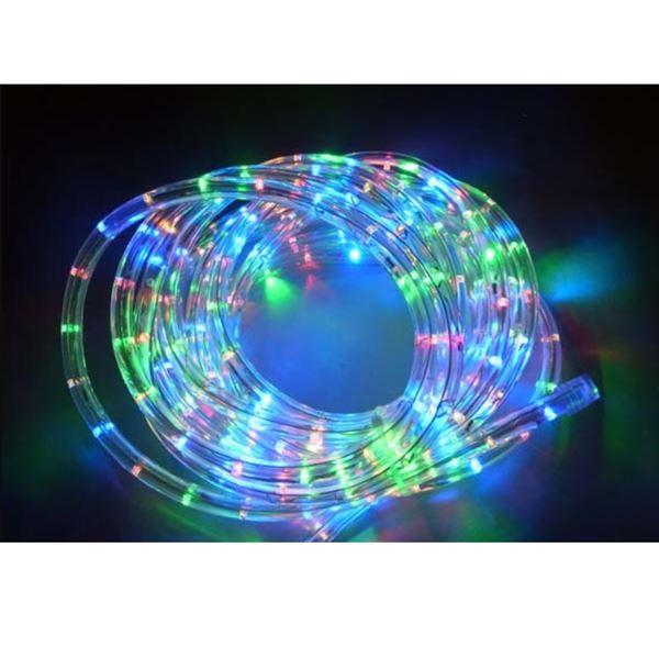 コロナ産業 LEDチューブライト 50mロール 直径10mm 常点灯仕様 4色ミックス(赤・青・黄・緑) #2WL50MIX 『イルミネーションライト』 4色ミックス(赤・青・黄・緑)