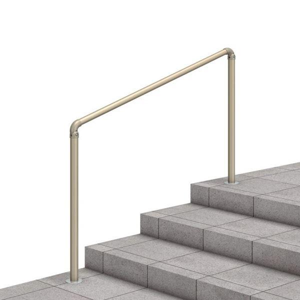 三協アルミ クリエフリー2S 歩行者用補助手すり 1スパンセット 埋め込み支柱タイプ アルミ形材タイプ