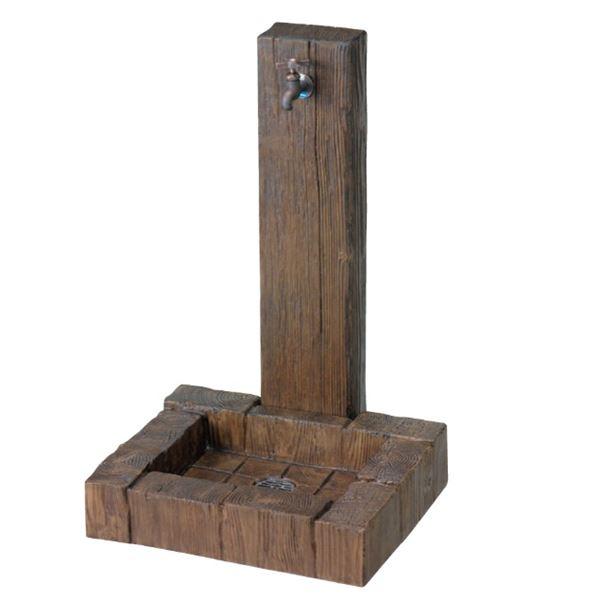 ニッコー 立水栓ユニット ランバータイプ 立水栓+パン+飾り蛇口セット LS-A2 LS-P N202  『水栓柱・立水栓 ニッコーエクステリア』 ブラウン(BR)
