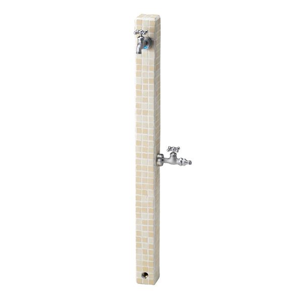 ニッコー 立水栓ユニット モゼック OPB-RS-23W 補助蛇口仕様 バニラ(VNL) 『水栓柱・立水栓 蛇口は別売り ニッコーエクステリア』 バニラ(VNL)