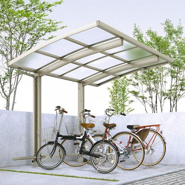 サイクルポート YKK ap レイナポートグラン ミニ 29-21 ポリカ屋根 ハイルーフ基本セット 『サビに強いアルミ製 家庭用 自転車置き場 屋根』