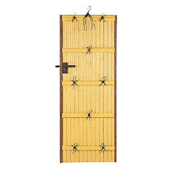 タカショー エバーバンブー 庭扉シリーズ AL-27 アルエバーウォール(押え付) 両面 W900×H1500 右吊り元 真竹 『柱は別売りです』 真竹