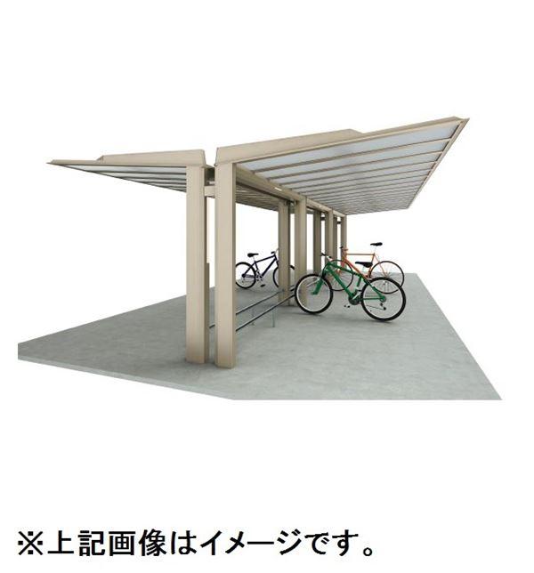 四国化成 サイクルポート ルナ 化粧支柱 Y合掌タイプ 基本セット 積雪20cm 標準高 埋込式 屋根材:ポリカ板(片面クリアマット) LNA-U4531