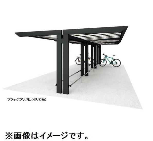 四国化成 サイクルポート リフト オープンタイプ 積雪20cm Y合掌タイプ 基本セット 標準高 屋根材:ポリカ板(片面クリアマット) LFT-4131