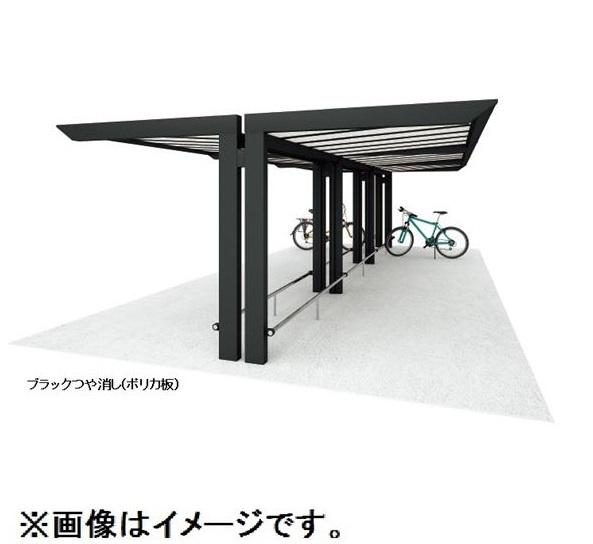 四国化成 サイクルポート リフト オープンタイプ 積雪20cm Y合掌タイプ 基本セット 延高 屋根材:ポリカ板(片面クリアマット) LFTE-4131