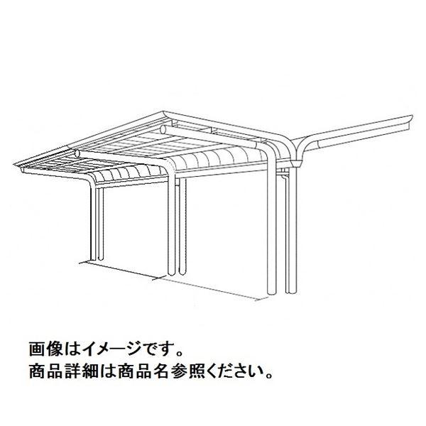 四国化成 サイクルポート V-R オープンタイプ Y合掌タイプ 連棟用基本セット(2連棟セット) 積雪20cm 延高 屋根材:アルミ樹脂複合板 VCE-4061
