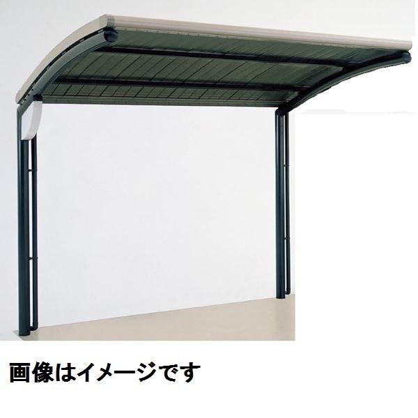 四国化成 サイクルポート SSR オープンタイプ 積雪20cm 標準タイプ 基本セット アルミロールホーミング屋根材  本体:ブラックつや消し/屋根材ステンカラー 本体:ブラックつや消し/屋根材ステンカラー