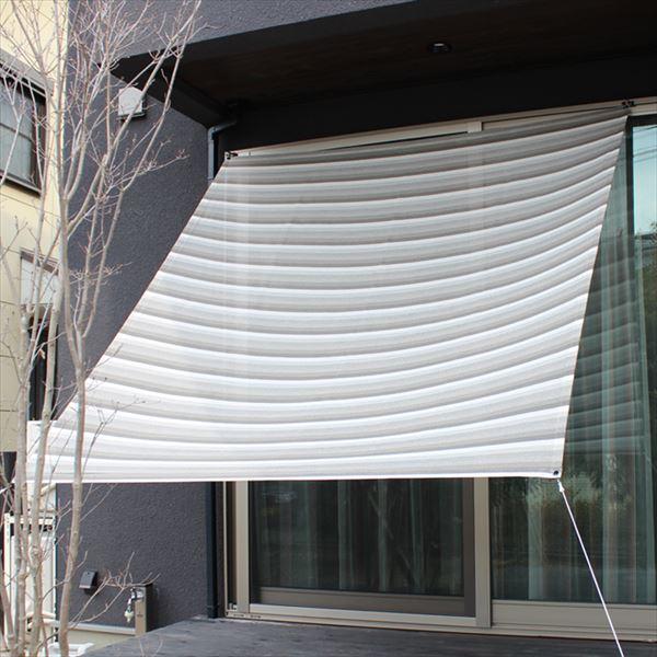 イチオリシェード 遮光タイプ mボーダー 『屋外用日よけ 透過性と通気性へのこだわり 日本製 シェード』 クラウド