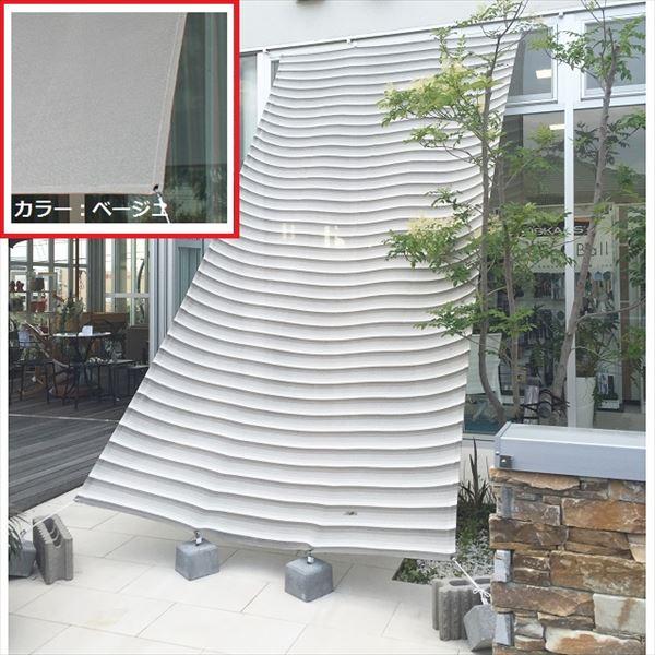 【欠品中 次回入荷未定】イチオリシェード 4mロングタイプ 遮光タイプ 『屋外用日よけ 透過性と通気性へのこだわり 日本製 シェード』 ベージュ