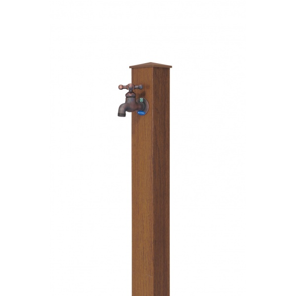 オンリーワン 木目アルミ立水栓  GM3-AL-100CK *蛇口は別売りです チーク