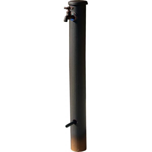 オンリーワン 陶器の立水栓100φ  KZ3-806F *蛇口は別売り IBUSHI 黒釉