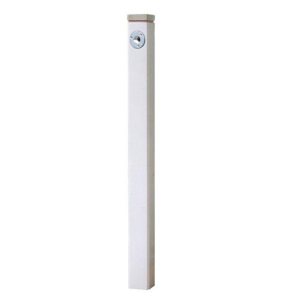 オンリーワン 陶器の立水栓75 (補助蛇口仕様)  KZ3-804B *蛇口は別売り 白釉