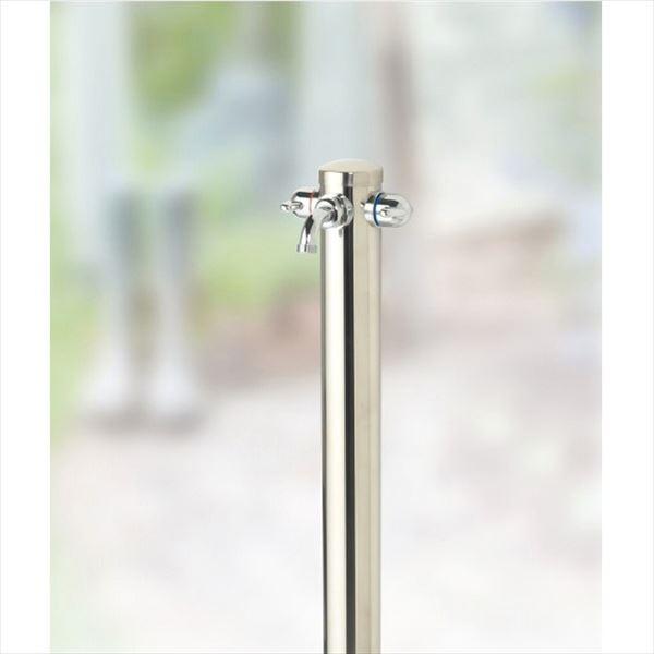 オンリーワン 湯水混合水栓柱  HV3-G211-KS 『水栓柱・立水栓セット(蛇口付き)』 ステンレス