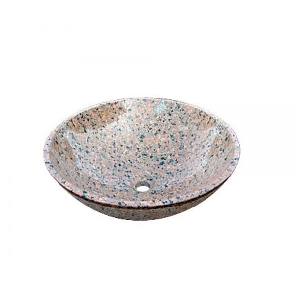 オンリーワン 石の水鉢 イブニングレッド  EC3-002 『水栓柱・立水栓 水受け(パン)』