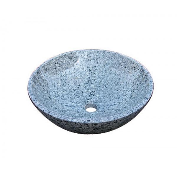 オンリーワン 石の水鉢 ブルー吹雪  EC3-003 『水栓柱・立水栓 水受け(パン)』