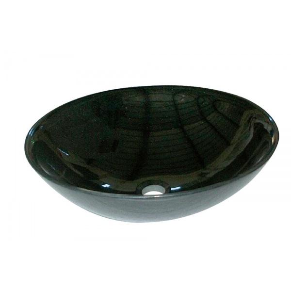 オンリーワン 石の水鉢 山西黒  EC3-004 『水栓柱・立水栓 水受け(パン)』