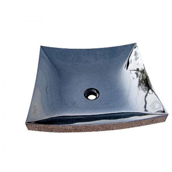 オンリーワン 石の水板 山西黒  EC3-005 『水栓柱・立水栓 水受け(パン)』
