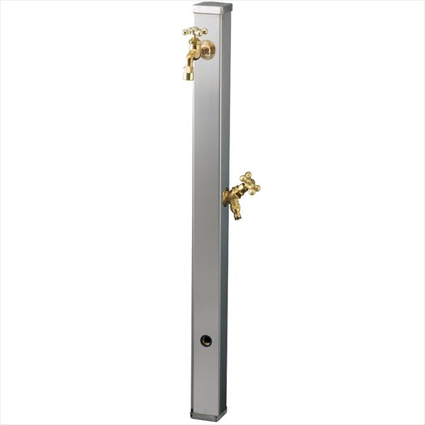 ユニソン スプレスタンド70 蛇口2個セット 『水栓柱・立水栓セット(蛇口付き)』 ステンシルバー