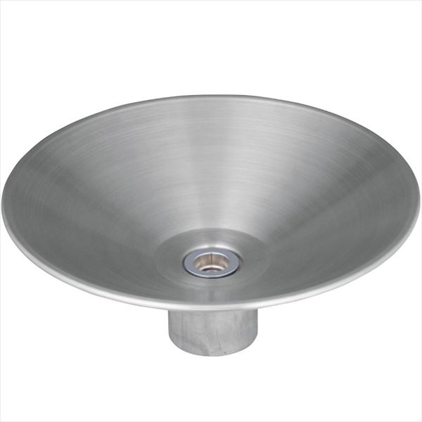 シャインポット ユニソン 『水栓柱・立水栓 水受け(パン)』 ウォーターポット ステンレスシルバー
