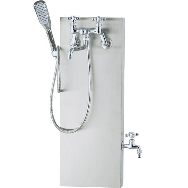 ユニソン ブライトスタンド ウォーターシャワー 『水栓柱・立水栓セット(蛇口付き)』 ヘアライン仕上げ