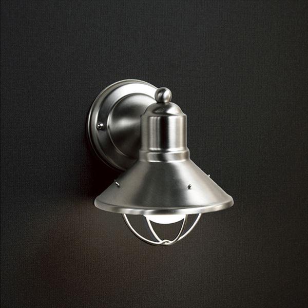 オンリーワン ウォールマウントライト ベーシック 白熱球 MA1-9021N 『エクステリア照明 ライト』 ヘアラインシルバー