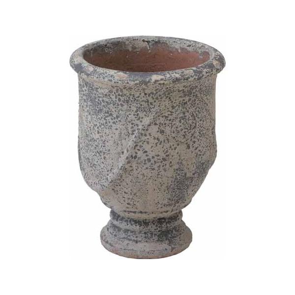 驚きの価格が実現 送料無料 タカショー ポリレジンに石を練り込み強度を高めた素材です アンティーク調ポット 大 トレンド グラシア LAM-A03L #36796200
