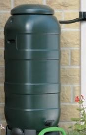【欠品中 2020年1月入荷予定】ハーコスター 雨水タンク スペースセイバ・ウォーターバット 100L HS100WBB レイントラップ(集水器)・スタンドは別売 『英国製』