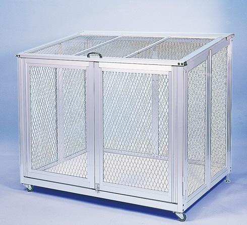 スワン商事 折り畳みゴミ収集箱 FTW-900F 『ゴミ袋(45L)集積目安 20袋、世帯数目安 10世帯』 『ゴミ収集庫』