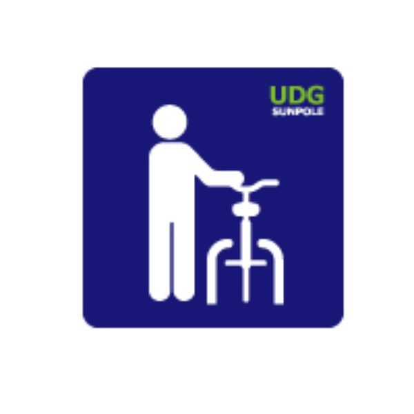 サンポール 路面標示サイン 自転車ゲート用 RS-3042-RD