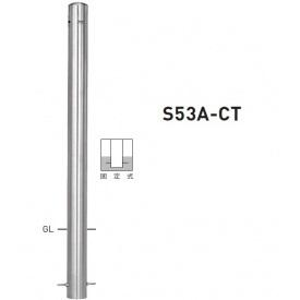 帝金 S53A-CT バリカーピラー型 スタンダード ステンレスタイプ 直径76.3mm 端部用 固定式