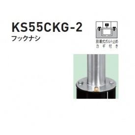 帝金 KS55CKG-2 バリカーピラー型 スタンダード ステンレスタイプ フックなし 脱着式ボルト止め カギ付き