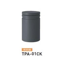 帝金 TPA-01CK バリカーピラー型 ローボラード アルミキャスト 脱着式カギ付 ダークグレー