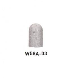 帝金 W58A-03 バリカーピラー型 ローボラード スチール製 固定式 白御影調