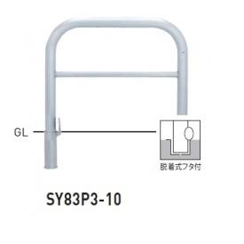 帝金 SY83P3-10 バリカー横型 スタンダード ステンレスタイプ W1000×H800 直径76.3mm 脱着式フタ付