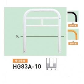 帝金 HG83A-10 バリカー横型 スタンダード スチールHGタイプ W1000×H750 直径76.3mm 固定式