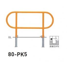 帝金 80-PK5 バリカー横型 スタンダード スチールタイプ W1200×H650 直径42.7mm 脱着式カギ付