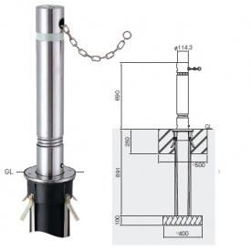 帝金 310CS バリカー上下式 バリアフリー ステンレスタイプ 直径114.3mm