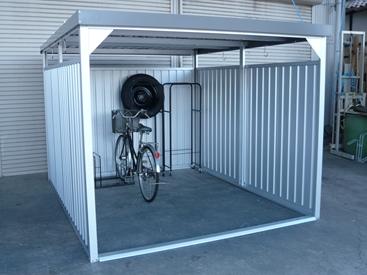欠品中 納期約3カ月かかります 配送条件限定商品 ダイマツ 多目的万能物置 DM-20L 壁パネルロングタイプ 土台寸法 間口2347×奥行2855 『自転車屋根 横雨に強いスチールタイプ』