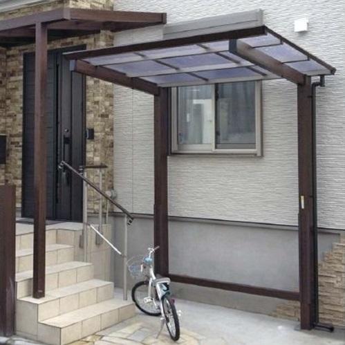 サイクルポート タカショー アートポートミニ 21-21 標準柱(H22) ポリカ屋根(クリアマット色) 『サビに強いアルミ製 家庭用 おしゃれ 自転車置場 屋根』