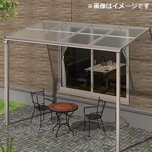 キロスタイルテラス F型屋根 1階用 3.5間(1.5間+2間) ×6尺 ポリカーボネート 積雪20cm対応