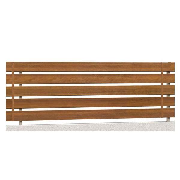 腐らない木調アルミフェンス 三協アルミ フレイナ Y1型 本体 フリー支柱タイプ 1206 『柵 高さ H600mm用』 木調色