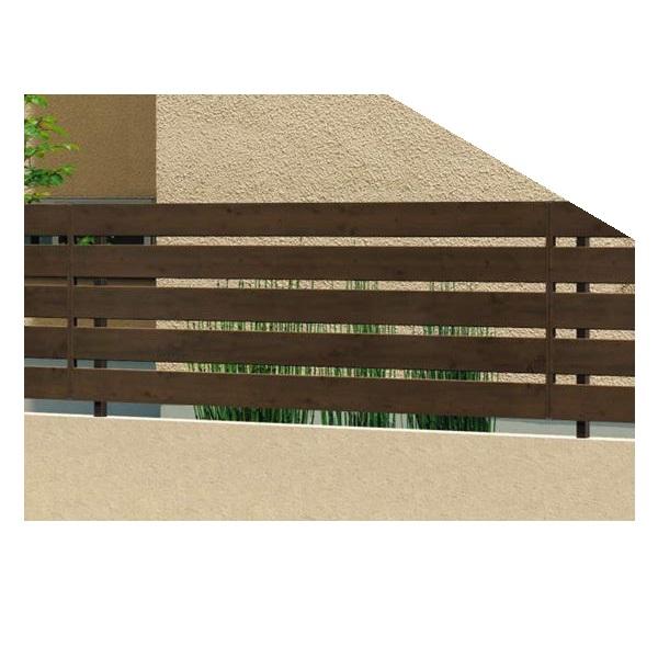三協アルミ フレイナ Y1型 本体 フリー支柱タイプ 2010 『三協立山アルミ アルミフェンス 柵 横格子 木調 H1000』 木調色