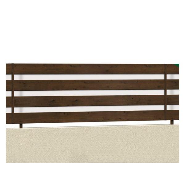 腐らない木調アルミフェンス 三協アルミ フレイナ YP型 本体 フリー支柱タイプ 1206 『柵 高さ H600mm用』 木調色