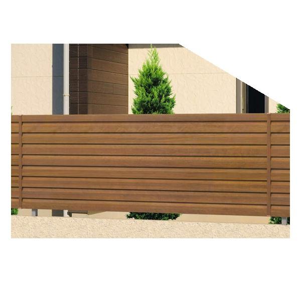 腐らない木調アルミフェンス 三協アルミ フレイナ Y5型 本体 フリー支柱タイプ 2008 『柵 高さ H800mm用』 木調色
