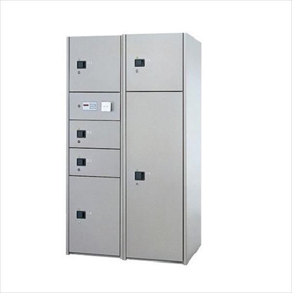 ナスタ 宅配ボックス 屋内用 コンピューター式 標準セット 2列6ボックス スチール扉 前入れ後出し『マンション用』