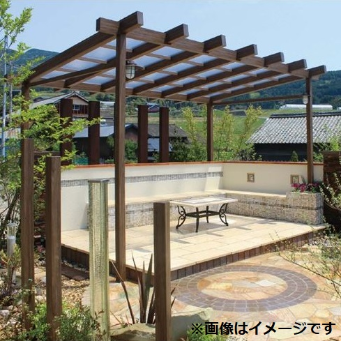 タカショー ポーチガーデン Jポーチ(独立タイプ) 3間×8尺 ブラウンスモーク