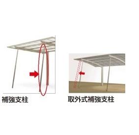 四国化成 バリューポートミニ用取外式補強支柱 延高用(1本入) SPT2E-28